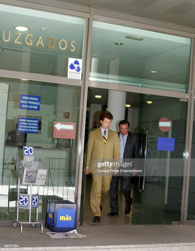 Javier Rigau on May 18, 2007 leaving court in Madrid, Spain. Italian actress Gina Lollobrigida, 85 has claimed that 51-year-old, Javier Rigau used a stand-in to marry her without her knowledge in a bid to ensure a share of her £35 million fortune.