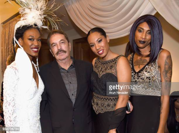 Javier Rosete and models backstage at Los Angeles Fashion Week Powered by Art Hearts Fashion LAFW FW/18 10th Season Anniversary Backstage and Front...