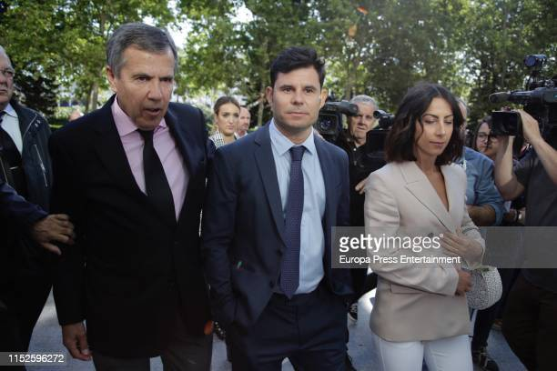 Javier Sanchez Santos , who claims to be the son of Spanish singer Julio Iglesias, attends the court of Valencia before a hearing to examine his...