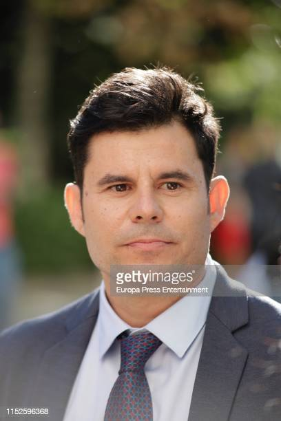 Javier Sanchez Santos, who claims to be the son of Spanish singer Julio Iglesias, attends the court of Valencia before a hearing to examine his...