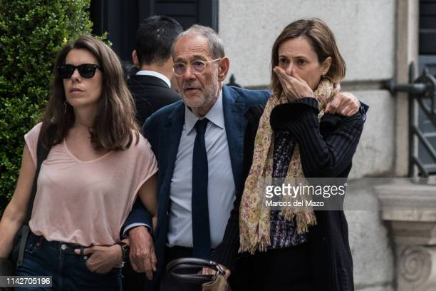 Javier Solana arriving to Alfredo Perez Rubalcaba funeral chapel at the Spanish Parliament Rubalcaba aged 67 died after after suffering a cerebral...