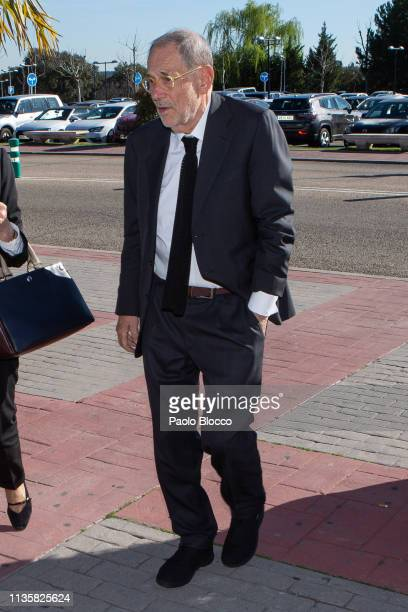 Javier Solana attends the Funeral Chapel for Cuca Solana on March 14 2019 in Madrid Spain