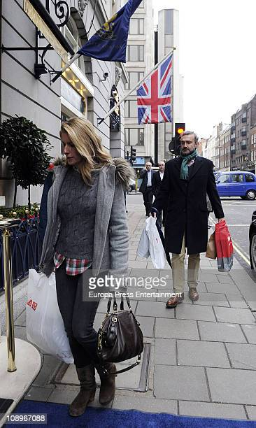 Javier Soto FitzJames Stuart and Maria Chavarri are seen sighting on February 10 2011 in London England