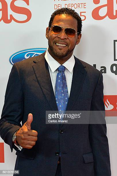 Javier Sotomayor attends the 2015 AS Del Deporte Awards at The Westin Palace Hotel on December 14 2015 in Madrid Spain