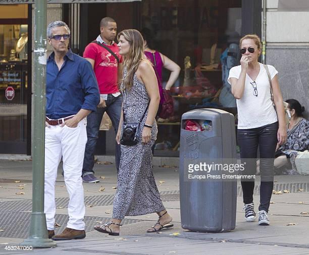 Javier Suarez Tatiana von Breisky and Sonsoles Suarez are seen on July 16 2014 in Madrid Spain