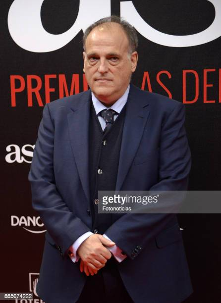 Javier Tebas attend the 'As del Deporte' and 'As' sports newspaper 50th anniversary dinner at the Palacio de Cibeles on December 4 2017 in Madrid...