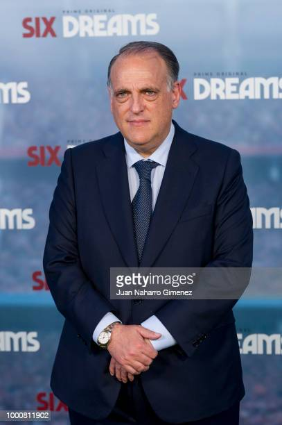 Javier Tebas attends 'Six Dreams' premiere at Capitol Cinema on July 17 2018 in Madrid Spain