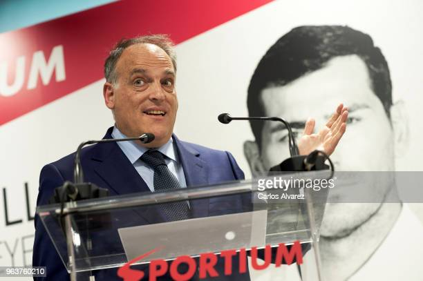 Javier Tebas attends the presentation of Iker Casillas as Sportium Ambassador for FIFA World Cup 2018 on May 30 2018 in Madrid Spain