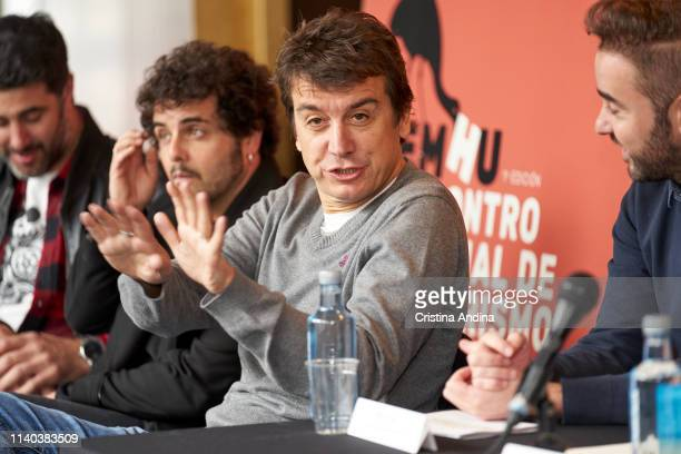 Javier Veiga attends EMHU press conference at Colon Theatre on April 4 2019 in A Coruna Spain