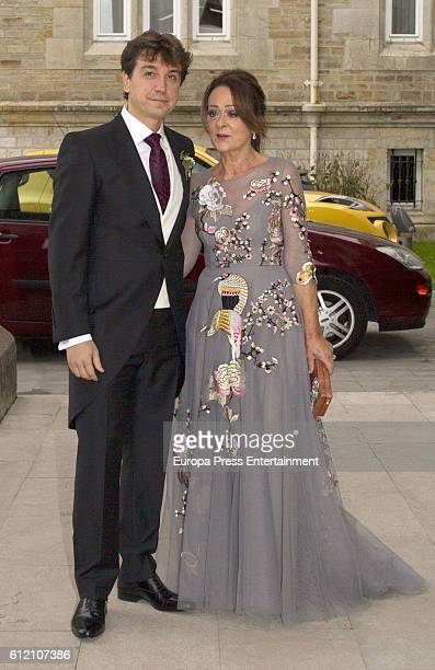 Javier Veiga attends his wedding ceremony at Palacio de la Magdalena on October 1 2016 in Santander Spain
