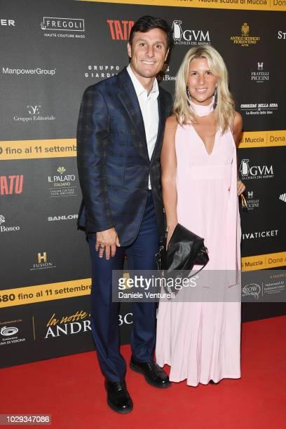 Javier Zanetti and Paula De La Fuente Zanetti attend Celebrity Fight Night at Arena di Verona on September 8 2018 in Verona Italy