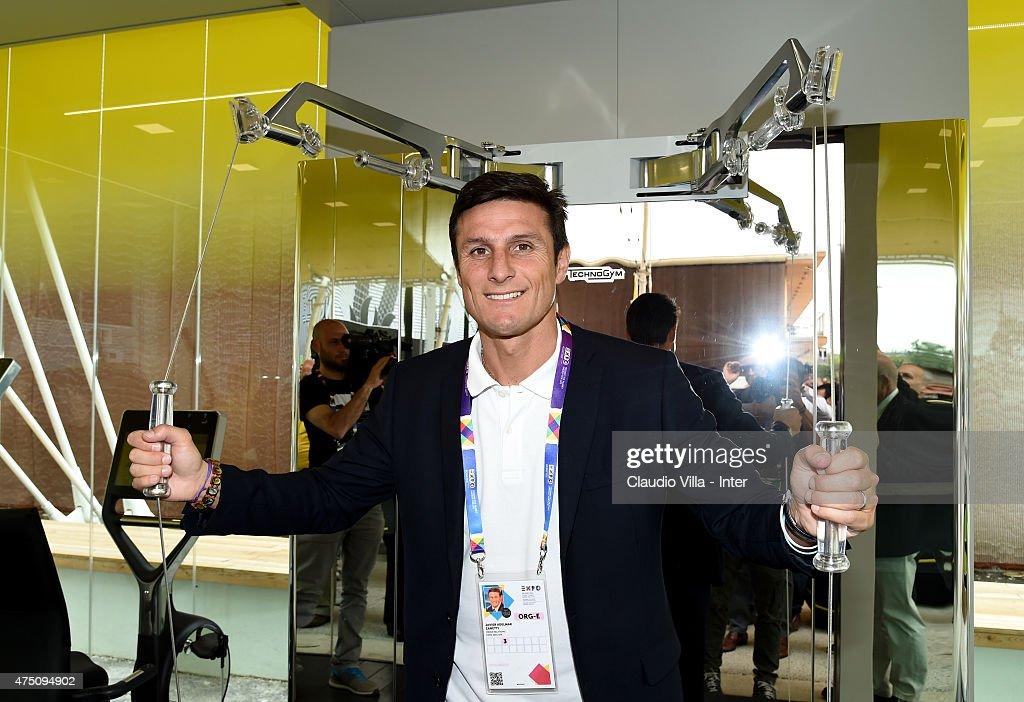 Javier Zanetti Visits Expo 2015 In Milan