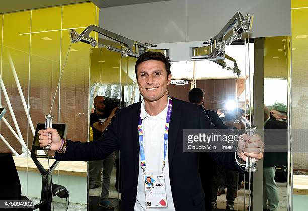 Javier Zanetti attends at EXPO 2015 on May 29, 2015 in Milan, Italy.