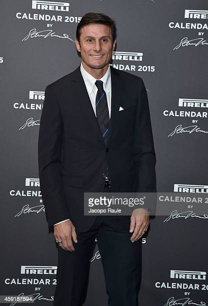 Javier Zanetti attends the 2015 Pirelli Calendar Red Carpet on November 18 2014 in Milan Italy