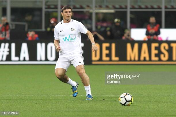 Javier Zanetti during quotLa partita del Maestroquot the farewell match by Andrea Pirlo at Giuseppe Meazza stadium on May 21 2018 in Milan Italy