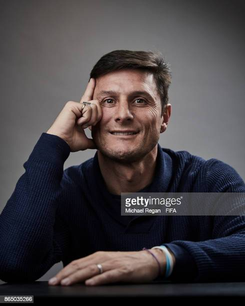 Javier Zanetti of Argentina poses prior to The Best FIFA Football Awards at The May Fair Hotel on October 22, 2017 in London, England.