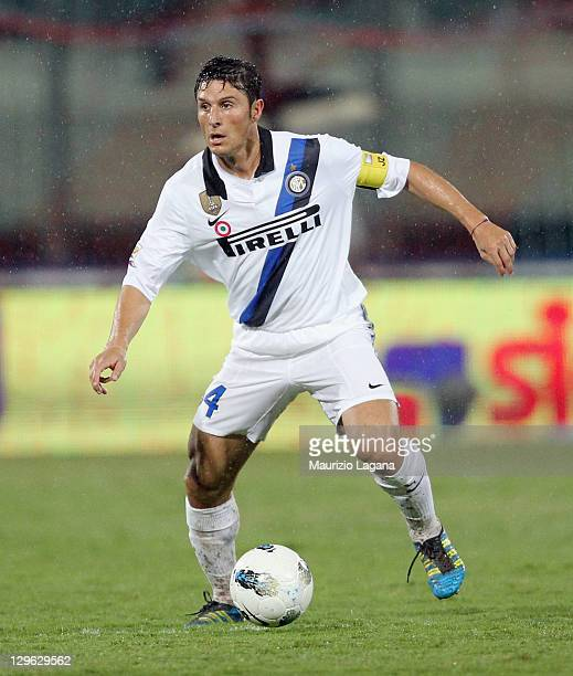 Javier Zanetti of Inter during the Serie A match between Catania Calcio and FC Internazionale Milano at Stadio Angelo Massimino on October 15 2011 in...