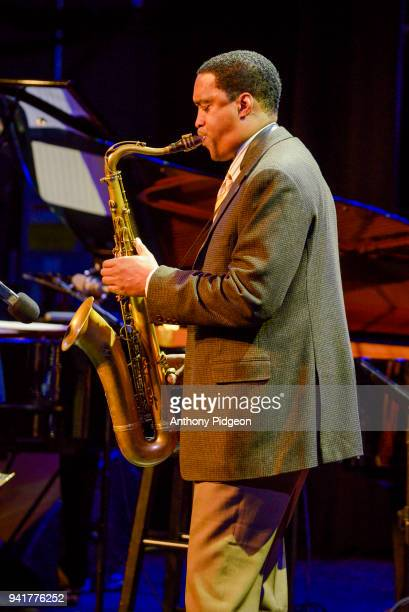 Javon Jackson of Jazz By 5 performs on stage at Revolution Hall as part of the PDX Jazz Festival in Portland Oregon USA on 25th February 2018