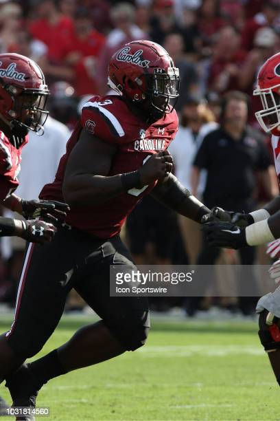 Javon Kinlaw defensive lineman The University of South Carolina during action between Georgia and South Carolina September 8 2018 at WilliamsBrice...