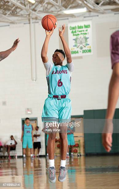 JaVonte Smart with the jumper during Adidas Nations Houston on May 17 2015 at Pasadena High School in Pasadena Texas