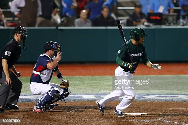 Jawad Ali of Team Pakistan bats during Game 4 of the 2016 World Baseball Classic Qualifier at MCU Park on Friday September 23 2016 in the Brooklyn...