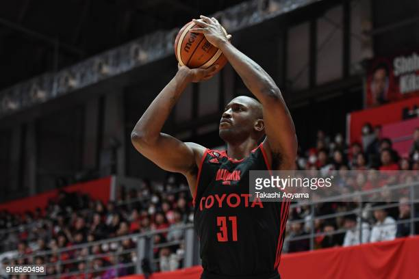 Jawad Williams of the Alvark Tokyo in action during the BLeague match between Alverk Tokyo and Kawasaki Brave Thunders at the Arena Tachikawa Tachihi...