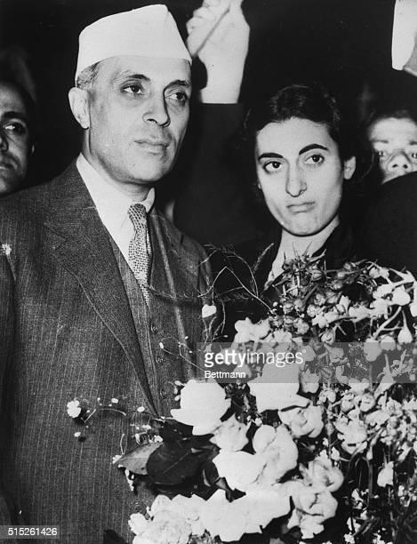Jawaharlal Nehru and his DaughterIndira