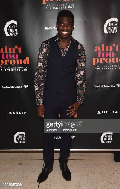Jawan M Jackson attends the after party for the Opening Night of Ain't Too Proud The Life And Times Of The Temptations at the Dorothy Chandler...