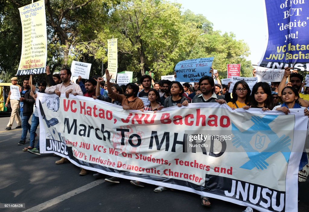 Student protest in New Delhi