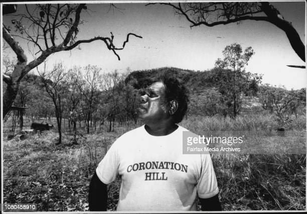 Jawoyn Tribesman Andy Andrews at the site of Coronation Hill They both want the mine to go ahead October 13 1989