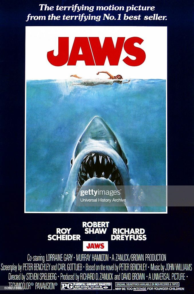 'Jaws' a 1975 American Thriller film starring Roy Scheider.