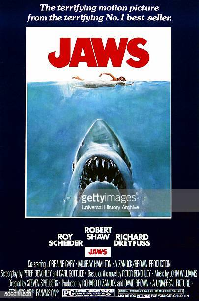 Jaws a 1975 American Thriller film starring Roy Scheider
