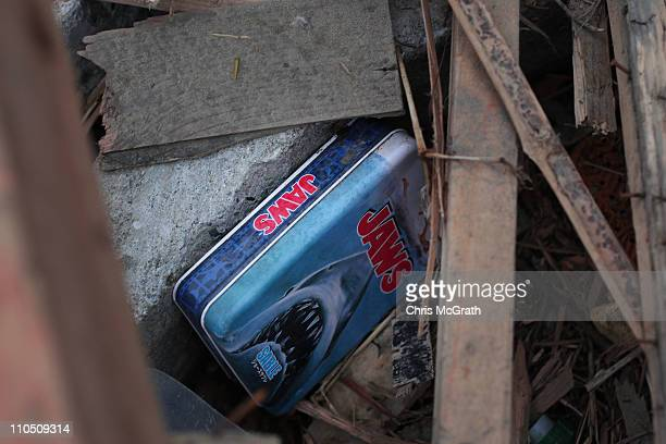 Jaws box set of DVDs are seen amongst the rubble on March 20 2011 in Rikuzentakata Japan The 90 magnitude strong earthquake struck offshore on March...