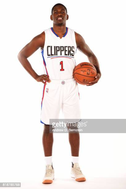 Jawun Evans of the LA Clippers poses for a portrait during a shoot in Playa Vista California on July 18 2017 at the Clippers Training Facility NOTE...