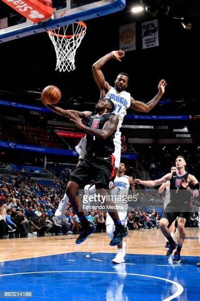 Jawun Evans of the LA Clippers shoots the ball against the Orlando Magic on December 13 2017 at Amway Center in Orlando Florida NOTE TO USER User...