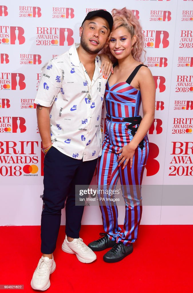 jax jones and raye attending the brit awards 2018 nominations event