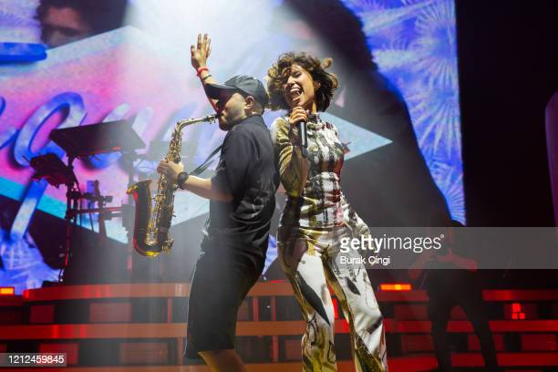 Jax Jones and Raye perform at O2 Academy Brixton on March 14 2020 in London England