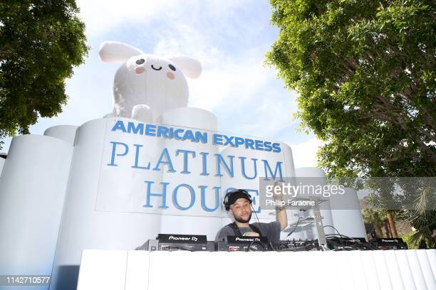 Jax Jones spins onstage at the American Express Platinum House at the Avalon Hotel Palm Springs on April 14 2019 in Palm Springs California