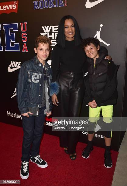 Jax Joseph Nilon Garcelle Beauvais and Jaid Thomas Nilon attend the 2018 Rookie USA Show at Milk Studios on February 15 2018 in Los Angeles California