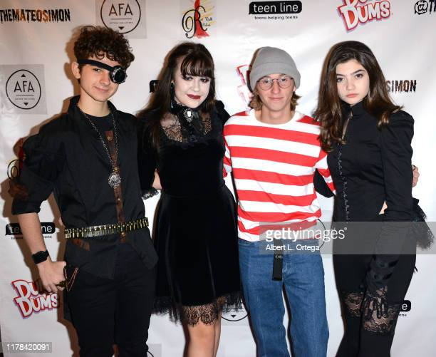 Jax Malcolm Alyssa de Boisblanc Adam Simpson and Samantha Gangal attend Mateo Simon's Annual Teen Line Charity Halloween Bash held at a Private...