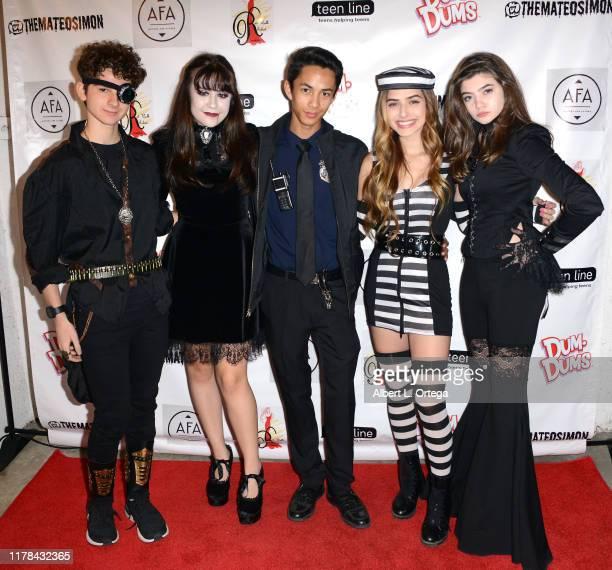 Jax Malcolm Alyssa de Boisblanc Kevin Garner Ashley Puzemis and Samantha Gangal attend Mateo Simon's Annual Teen Line Charity Halloween Bash held at...