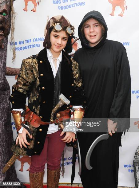 Jax Malcolm and Connor Dean attend the Annual Halloween Party Hosted by Piper Madison and Skylar Fayre on October 31 2017 in Los Angeles California