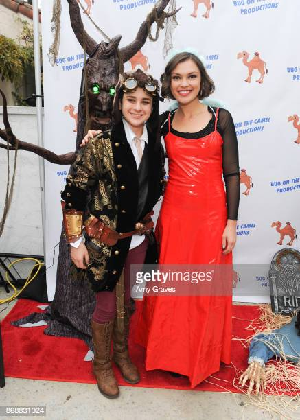 Jax Malcolm and Silvia Busuioc attend the Annual Halloween Party Hosted by Piper Madison and Skylar Fayre on October 31 2017 in Los Angeles California