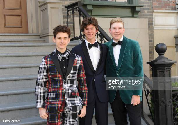Jax Malcolm Chase Mangum and Connor Dean attend the 2019 Young Entertainer Awards at Steven J Ross Theatre on the Warner Bros Lot on April 7 2019 in...