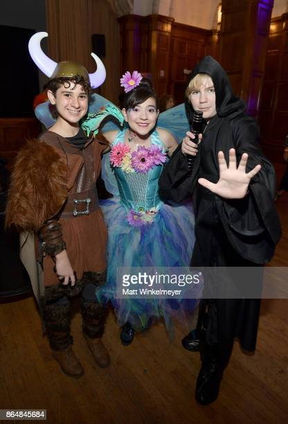 Jax Malcolm Chloe Noelle and Connor Dean at the Dream Halloween 2017 Costume Party Benefitting Starlight Children's Foundation presented by Michaels...