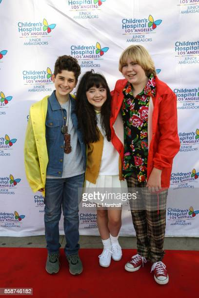 Jax Malcolm Chloe Noelle and Connor Dean attend the 2nd Annual #ActionJax Halloween Movie Morning Fundraiser at the Vista Theatre on October 7 2017...