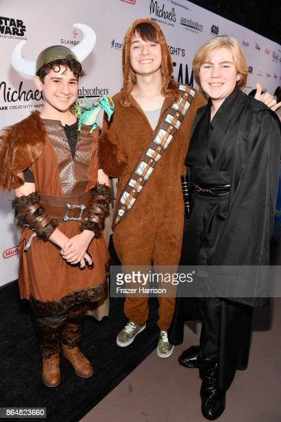 Jax Malcolm CJ Valleroy and Connor Dean at the Dream Halloween 2017 Costume Party Benefitting Starlight Children's Foundation presented by Michaels...