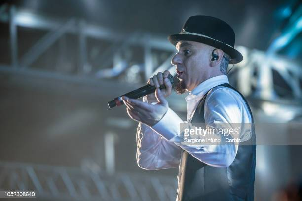 Ax performs on stage at Fabrique Club on October 16 2018 in Milan Italy