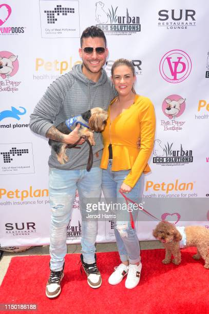 Jax Taylor and Brittany Cartwright attend 4th Annual World Dog Day at West Hollywood Park on May 18, 2019 in West Hollywood, California.