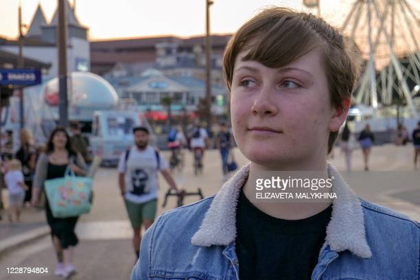 Jay, a 19-year-old animation student who has launched an online fundraising campaign to help pay for surgery to transform his gender, poses for a...